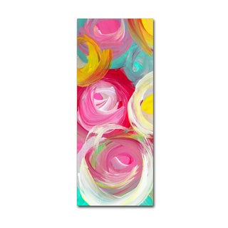 Amy Vangsgard 'Rose Garden Circles Vertical 2' Canvas Art