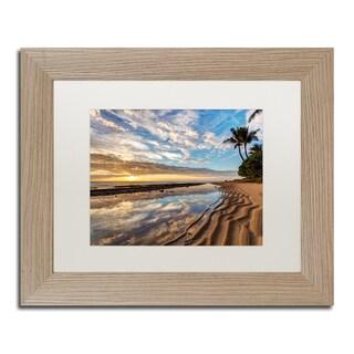 Pierre Leclerc 'Kauai Kailani Sunrise' Matted Framed Art