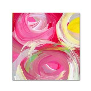 Amy Vangsgard 'Rose Garden Circles Square 4' Canvas Art