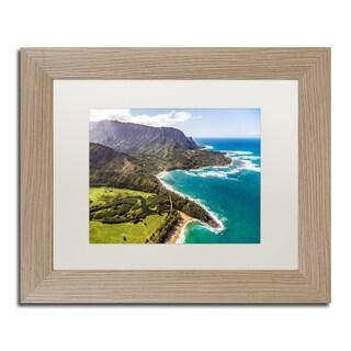 Pierre Leclerc 'Kauai from the Air 2' Matted Framed Art