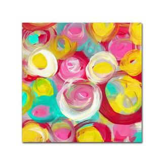 Amy Vangsgard 'Rose Garden Circles Square 3' Canvas Art