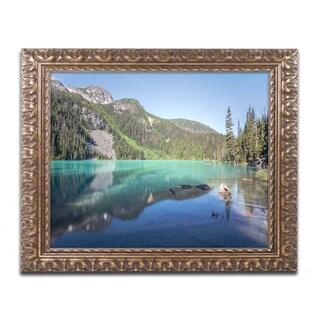 Pierre Leclerc 'Blue Joffre Lakes' Ornate Framed Art