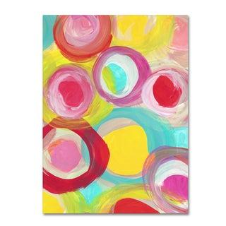Amy Vangsgard 'Colorful Sun Circles Vertical 1' Canvas Art