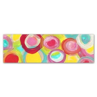 Amy Vangsgard 'Colorful Sun Circles Panoramic 1' Canvas Art