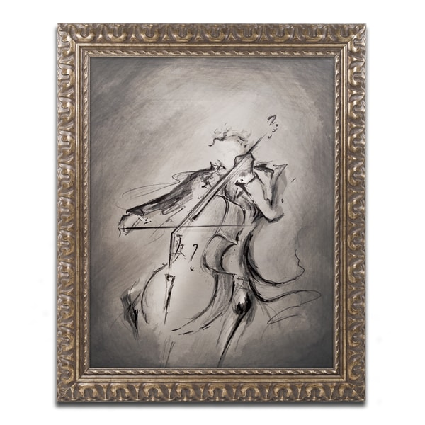 Marc Allante \'The Cellist\' Ornate Framed Art - Free Shipping Today ...