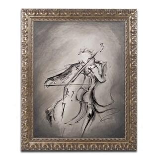 Marc Allante 'The Cellist' Ornate Framed Art