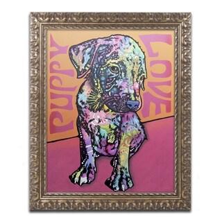 Dean Russo 'Puppy Love' Ornate Framed Art