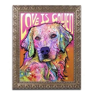 Dean Russo 'Love is Golden' Ornate Framed Art