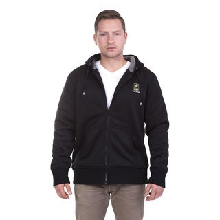 Men's Black/Grey Polyester Sherpa Officially Licensed US Army Hoodie