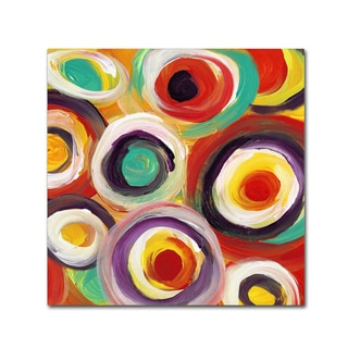 Amy Vangsgard 'Bright Bold Circles Square 1' Canvas Art