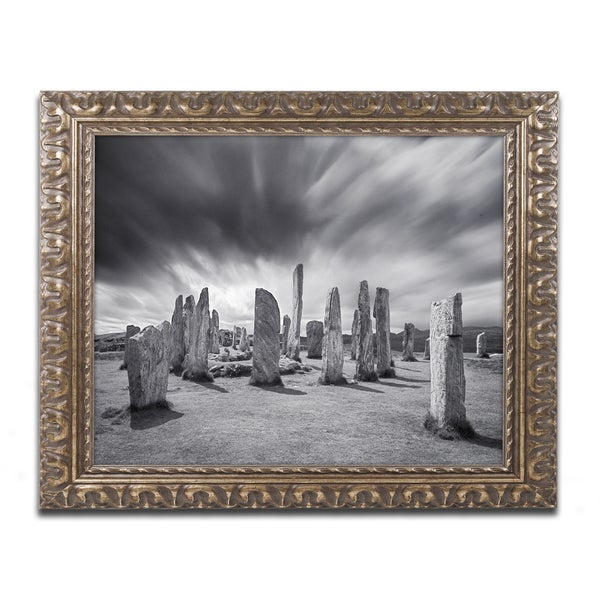 Michael Blanchette Photography 'Callanish Clouds' Ornate Framed Art