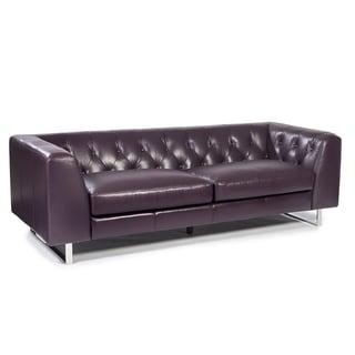 Lazzaro Leather Porta Plum Sofa