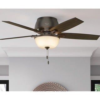 Hunter Fan Donegan Collection Onyx Bengal Barnwood/Dark Walnut Oxidized-finish 52-inch 5-reversible-blade Ceiling Fan