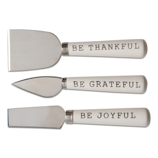 TAG Thanksgiving Thankful Cheese Utensil Set Of 3
