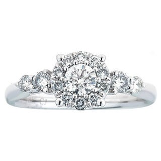 Size 7 Anika and August 18k White Gold 3/4ct TDW Diamond Ring (SI1-SI2,G-H)