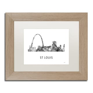 Marlene Watson 'Gateway Arch St Louis WB-BW' Matted Framed Art