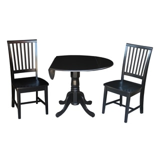"""Set of 3 pcs - 42"""" Dual Drop Leaf Table with 2 mission chairs"""