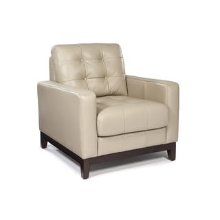 Lazzaro Leather Clayton Taupe Chair