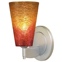 Bruck Lighting Bling 2-LED Matte Chrome Wall Sconce With Sunrise Glass Shade