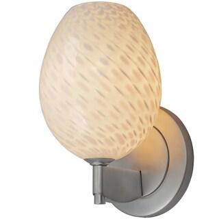 Bruck Lighting Bolero Matte Chrome LED Wall Sconce with Dove Glass Shade