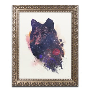 Robert Farkas 'Universal Wolf' Ornate Framed Art