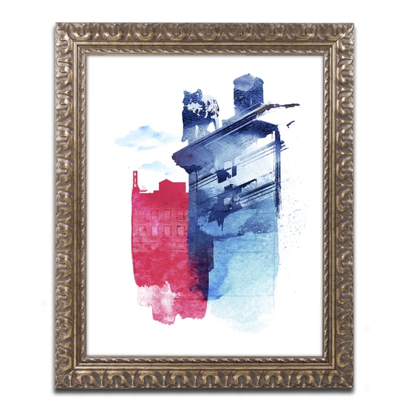 Robert Farkas 'This Is My Town' Ornate Framed Art