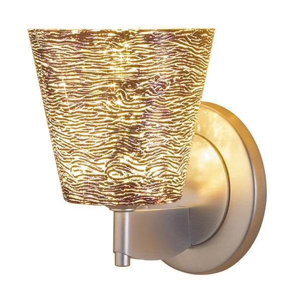 Bruck Lighting Bling 1 Matte Chrome Silver Glass Shade LED Wall Sconce