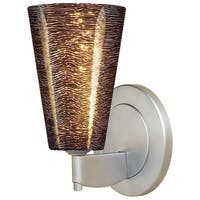 Bruck Lighting Bling 2 Black Glass and Matte Chrome LED Wall Sconce