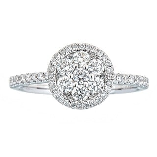 Anika and August 18K White Gold .70ct TDW Diamond Engagement Ring (G-H, SI1-SI2)