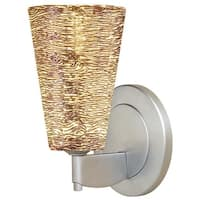 Bruck Lighting Bling 2 Matte Chrome and Silver Glass Shade LED Wall Sconce