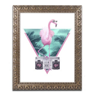 Robert Farkas 'Miami Flamingo' Ornate Framed Art