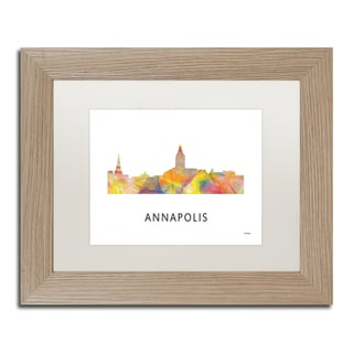 Marlene Watson 'Annapolis Maryland Skyline WB-1' Matted Framed Art
