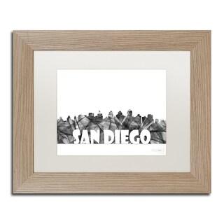Marlene Watson 'San Diego California Skyline BG-2' Matted Framed Art