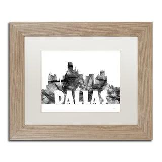 Marlene Watson 'Dallas Texas Skyline BG-2' Matted Framed Art