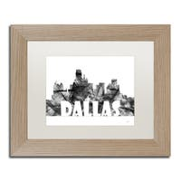 Marlene Watson 'Dallas Texas Skyline BG-2' Matted Framed Art