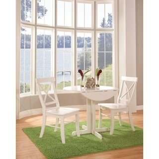 "Set of 3 pcs - 36"" Dual Drop Leaf Table with 2 san remo chairs"