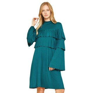JED Women's Love USA Collection High Neck Ruffle Dress (More options available)