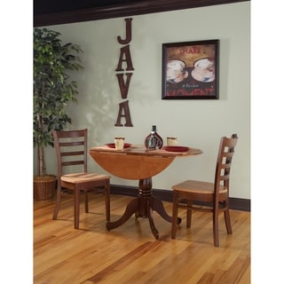 "Set of 3 pcs - 42"" Dual Drop Leaf Table with 2 Emily chairs"