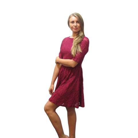 Francesca's Pink Lace Dress