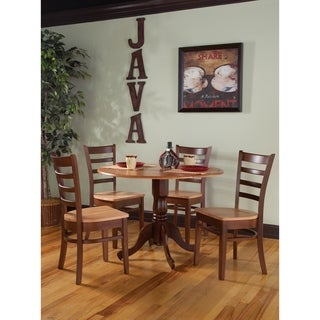 """Set of 5 pcs - 42"""" Dual Drop Leaf Table with 4 Emily chairs"""