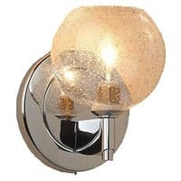 Bruck Lighting Bobo 1 Chrome and Clear Glass Shade LED Wall Sconce