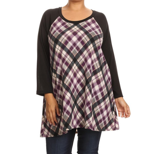 Women's Plaid Plus-size Tunic