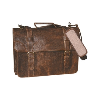 Scully Leather Brown Lambskin Satchel Briefcase