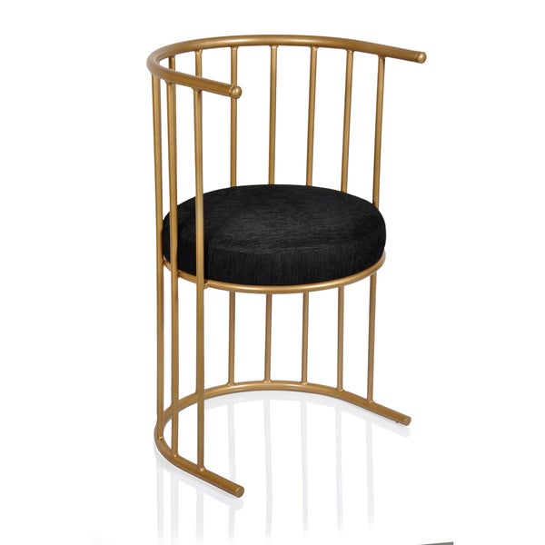 shop black and gold side accent chair free shipping today 12980634. Black Bedroom Furniture Sets. Home Design Ideas