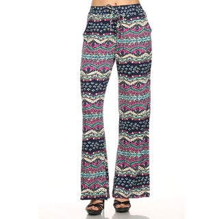 Women's Multicolor Polyester 2-pocket Palazzo Pants