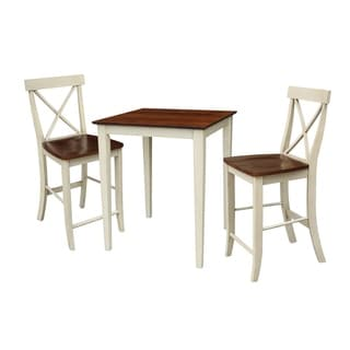 Set of 3 pcs - 30x30 gathering height table with 2 X-back stools