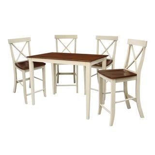 Set of 5 pcs - 30x48 Gathering height table with 4 X-back stools