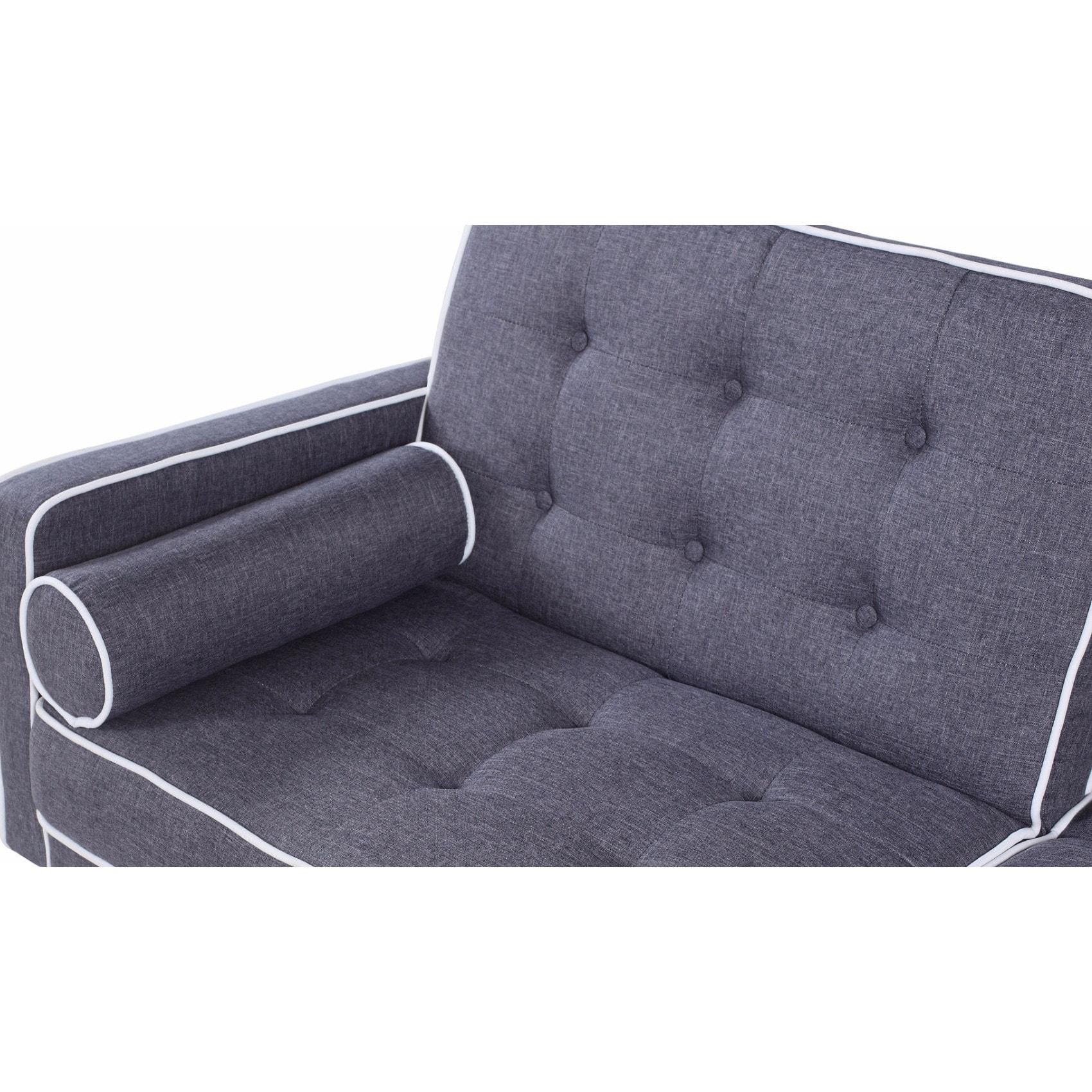 Futons Frames Covers Mid Century Modern Sleeper Sofa Two Tone Split Back Tufted Velvet Futon Purple Home Garden