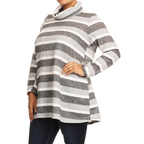 Women's Plus Size Striped Tunic