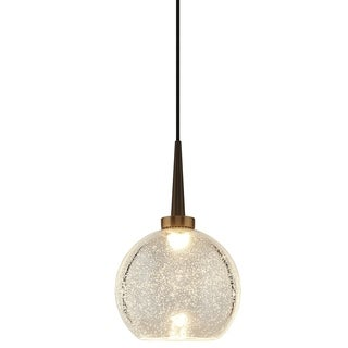 Bronze 4-inch LED Pendant Fixture with Clear Glass Shade